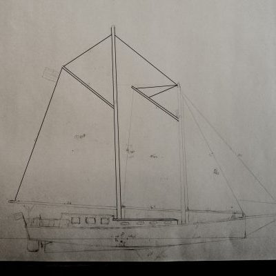 A photo of the sail plan.