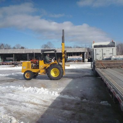 Receiving delivery of 300 lead bricks, each weighing forty pounds. Delivered on two pallets.
