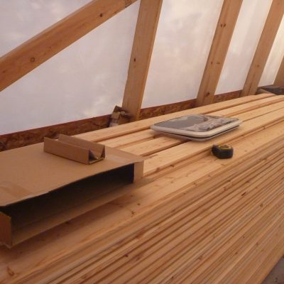 The Douglas fir for planking and one of the hatches.