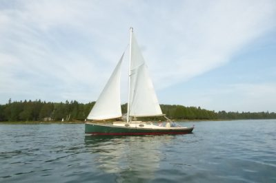 Sailing along Drummond Island.