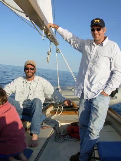 Enjoying an afternoon under sail.
