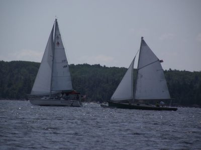 Gypsy M sailing with a friend in the North Channel.