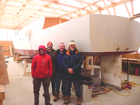 Capt. Hugh, second from left, with his Canadian friends Ryan Bennett, Klaus Brixa and Roger Jaarsma.