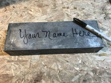 Ballast Bricks – Put your name on history!