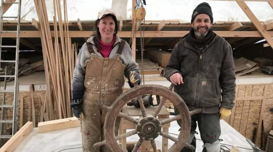 Building Schooner Huron Jewel Video