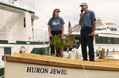 Christening Schooner Huron Jewel Video