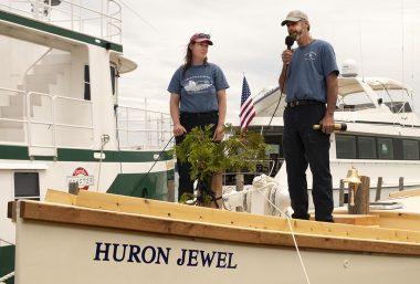 Christening Schooner Huron Jewel Video