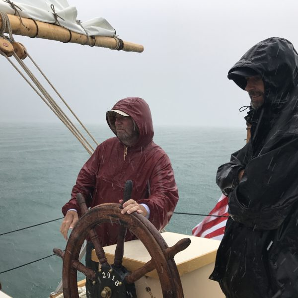 Fair or foul weather, we go out and passengers have fun taking the helm!