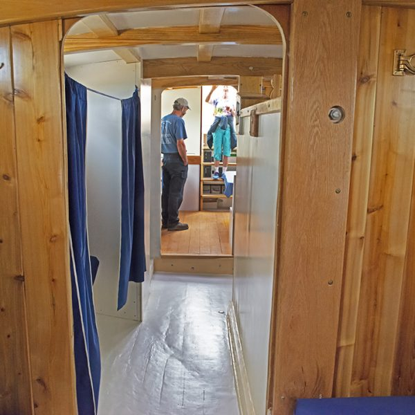 "The berth interior of the schooner. Photo by Richard ""Dock"" Borth."